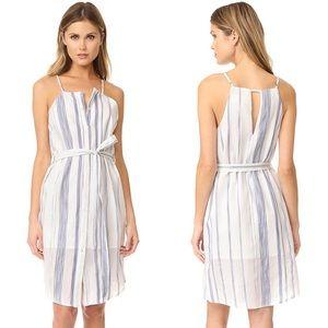 JOA White/Navy Stripe Sheath Dress, Size Small
